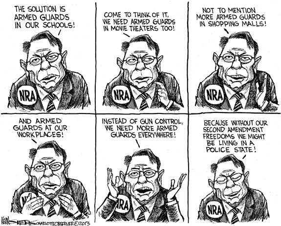 Editorial Cartoon: The NRA