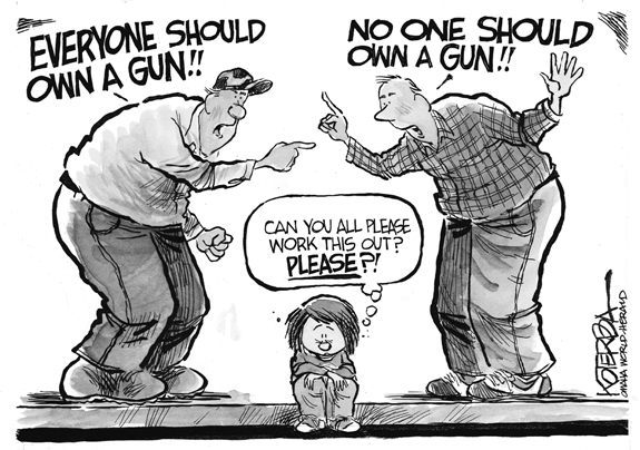 Editorial Cartoon: Gun Control