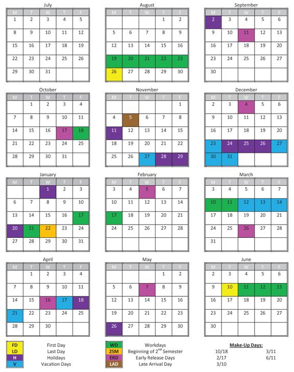 <i>2013-14 Franklin County Traditional School Calendar</i>