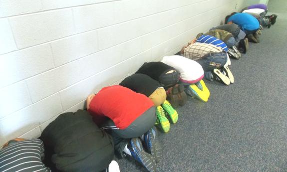 <i>Statewide tornado drills keep kids ducking!</i>