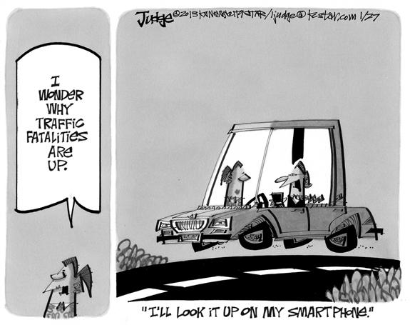 Editorial Cartoon: Not-So-Smart Phone