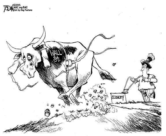 Editorial Cartoon: Wall Street