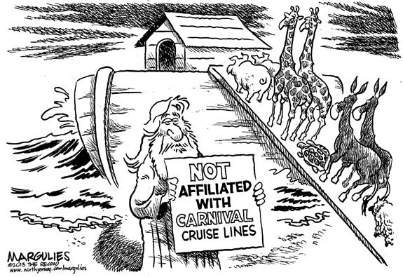 Editorial Cartoon: Noah's Ark