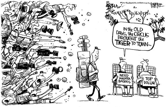 Editorial Cartoon: Tiger
