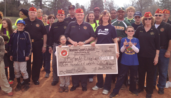 MIRACLE LEAGUE DONATION