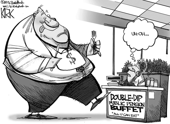 Editorial Cartoon: Double-Dip