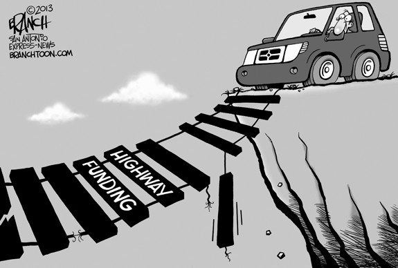 Editorial Cartoon: Highway Funding