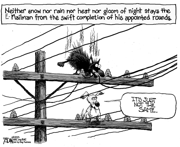 Editorial Cartoon: E-Mailman