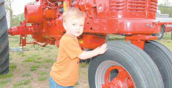 <i>Ah-h-h, springtime! Tractors, kids and vintage cars!</i>