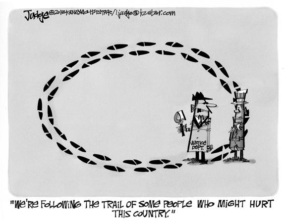 Editorial Cartoon: The Trail