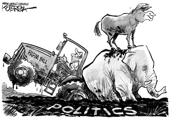 Editorial Cartoon: Farm Bill