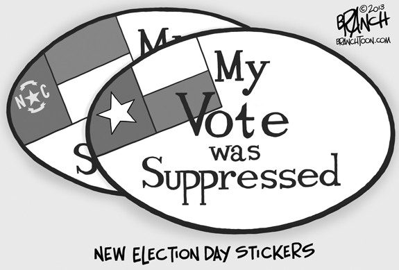 Editorial Cartoon: Suppression
