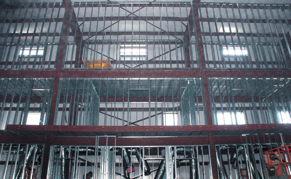 New airport hangar nearing completion