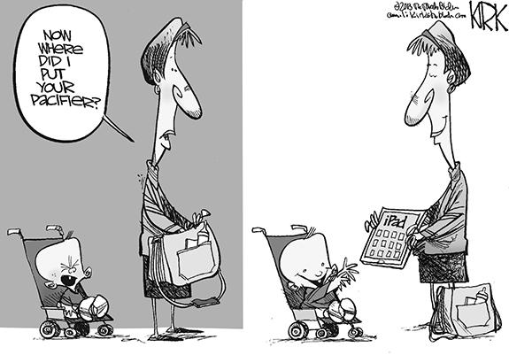 Editorial Cartoon: iPacifier