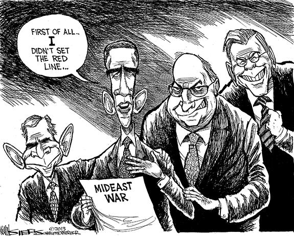 Editorial Cartoon: Thin Red Line