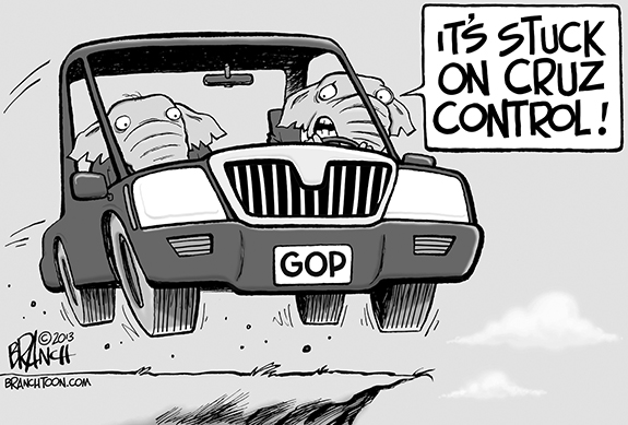 Editorial Cartoon: Cruz Control