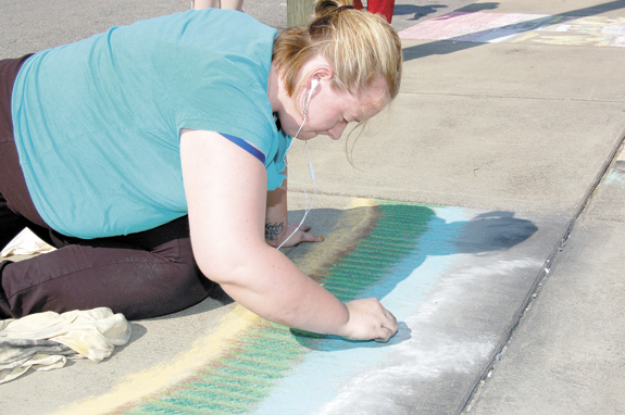 Area artists transform sidewalks into 'canvas', 2