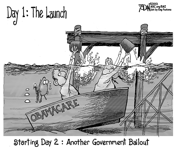 Editorial Cartoon: Bailout