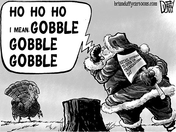 Editorial Cartoon: Open for Business