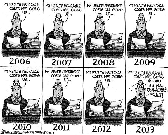 Editorial Cartoon: Health Insurance