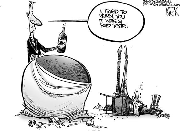 Editorial Cartoon: Bad Year