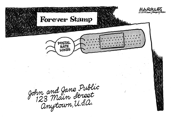 Editorial Cartoon: Forever Stamp