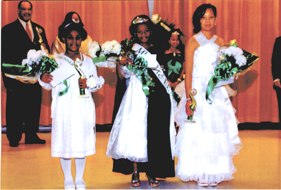 <i>Seven contestants showcased at Miss Nu Epsilon Cotillion</i>