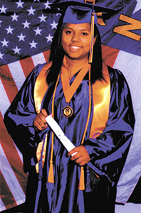 <i>Student earns degree at ECU</i>