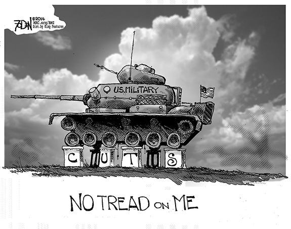 Editorial Cartoon: No Tread