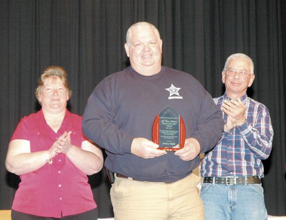 <i>Veteran volunteer saluted</i>