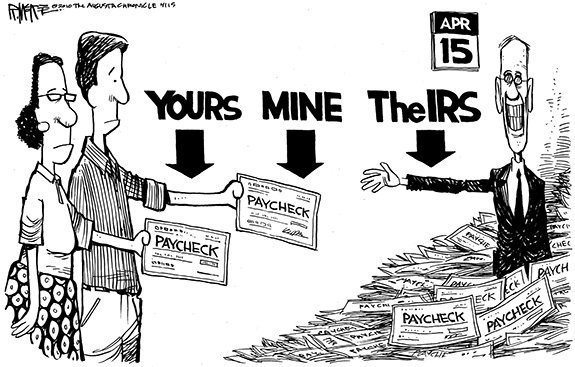 Editorial Cartoon: IRS
