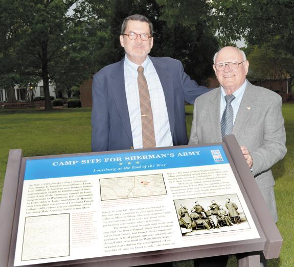 <i>Marker recalls a time when 'bluecoats' marched through</i>