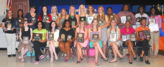 LOUISBURG HIGH SCHOOL GIRLS SUPERLATIVES FROM AWARDS CEREMONY