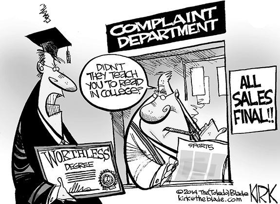 Editorial Cartoon: Degree