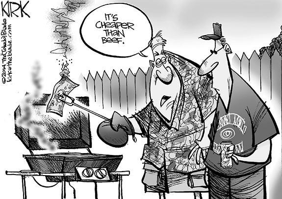 Editorial Cartoon: Beef