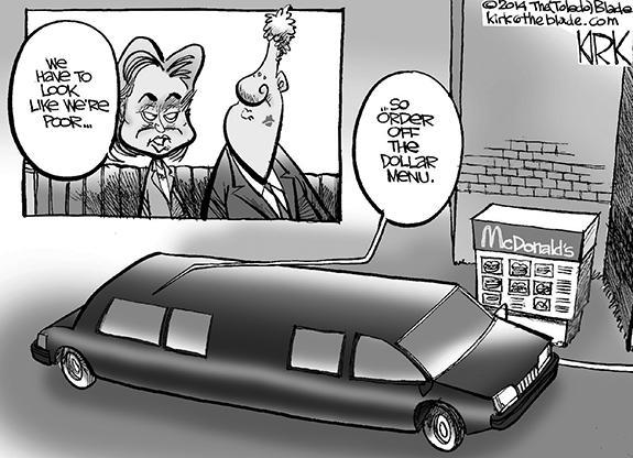 Editorial Cartoon: The Clintons