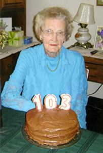 Mary Williams, 103 years young!