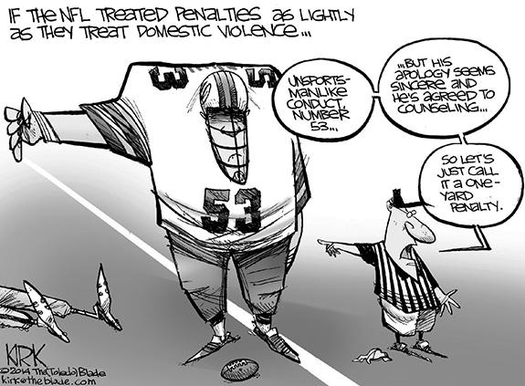 Editorial Cartoon: NFL