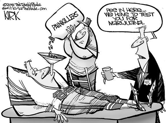 Editorial Cartoon: NFL