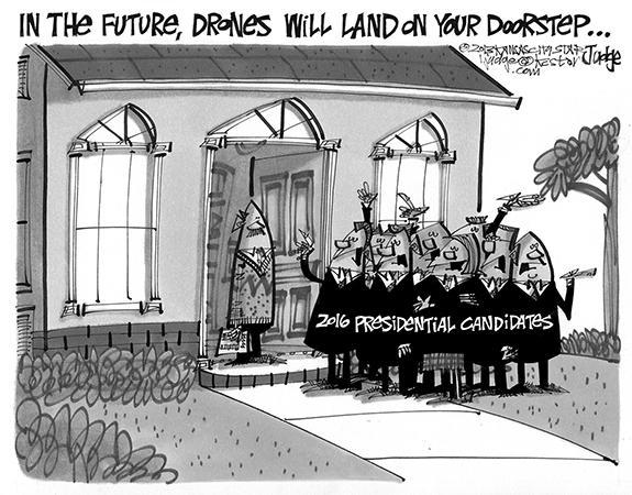 Editorial Cartoon: Drones