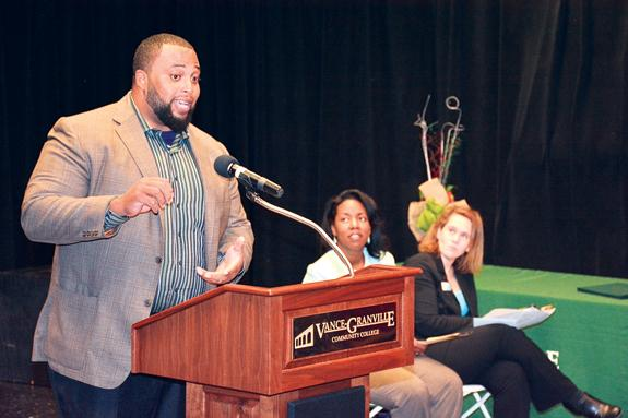 NFL star turned farmer urges students to make a difference