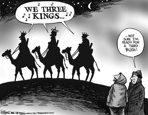 Editorial Cartoon: Bush Number Three