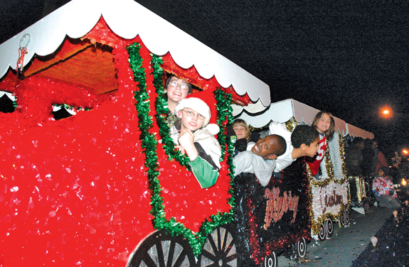 Christmas lights up Franklinton's night