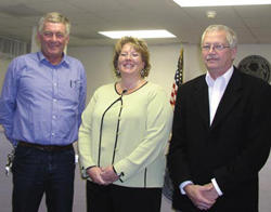 Commissioners take oaths; Buffaloe new chairman