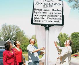 Historical marker serves as reminder of shining legacy