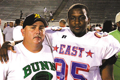 BUNN HIGH'S MONTGOMERY SHINES IN EAST-WEST GAME