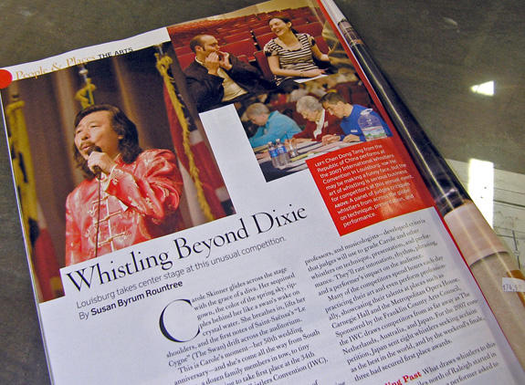 "<i>Whistlers in ""Southern Living""</i>"