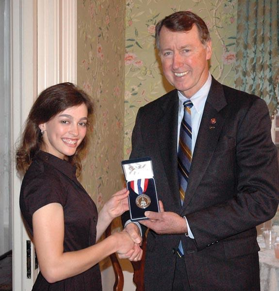 Erin Mullen honored with Congressional Silver Medal Award