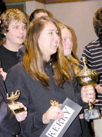 <FONT SIZE=3>Louisburg High wins Quiz Bowl</font>
